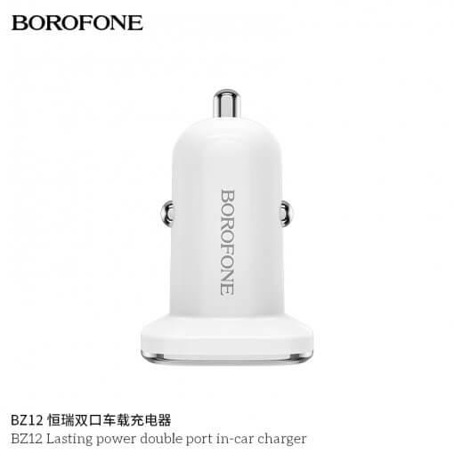 tẩu sạc oto borofone bz12
